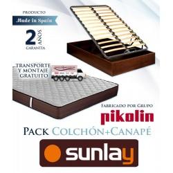 Pack Colchón modelo Ribera y Canapé tapa multiláminas fabricado por el Grupo Pikolin
