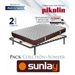 Pack Colchón modelo Ribera y Somier multiláminas fabricado por el Grupo Pikolin