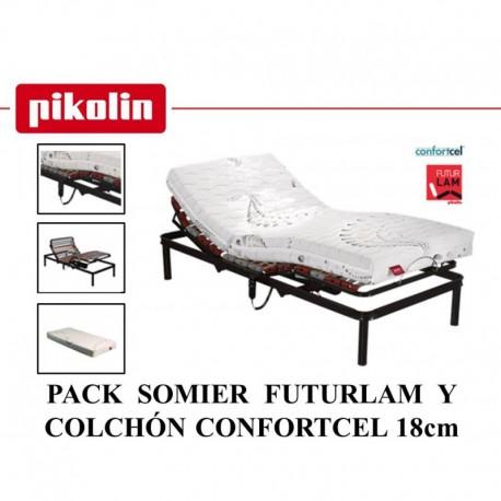 PACK SOMIER ART. Y COLCHÓN 18 PIKOLIN